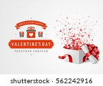 happy valentines day greeting... | Shutterstock .eps vector #562242916