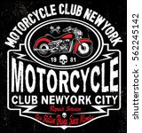 motorcycle tee graphic design | Shutterstock .eps vector #562245142