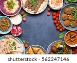 middle eastern or arabic dishes ... | Shutterstock . vector #562247146