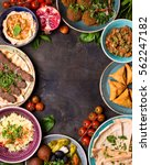 middle eastern or arabic dishes ... | Shutterstock . vector #562247182