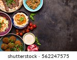 middle eastern or arabic dishes ... | Shutterstock . vector #562247575