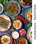 middle eastern or arabic dishes ... | Shutterstock . vector #562247626