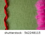 red ribbon and dyed bird... | Shutterstock . vector #562248115