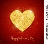vector happy valentine's day... | Shutterstock .eps vector #562254502