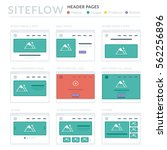 website wireframe layouts ui... | Shutterstock .eps vector #562256896