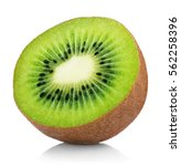 single half of ripe juicy kiwi... | Shutterstock . vector #562258396