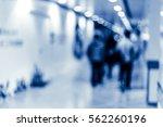 abstract modern shopping mall... | Shutterstock . vector #562260196
