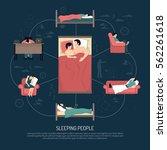 sleeping people design concept...   Shutterstock .eps vector #562261618