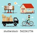vector flat design icons set....   Shutterstock .eps vector #562261756