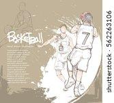 hand drawn illustration of... | Shutterstock .eps vector #562263106