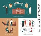 psychologist design concept... | Shutterstock .eps vector #562263265