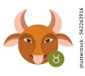 taurus astrology sign isolated... | Shutterstock .eps vector #562263916