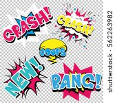 set of comic text  pop art... | Shutterstock .eps vector #562263982