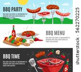 bbq banners set with summer... | Shutterstock .eps vector #562270225