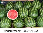 Water melon at fruit market