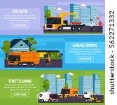 special transport flat... | Shutterstock .eps vector #562271332