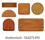 wooden retro labels vector set. ... | Shutterstock .eps vector #562271392