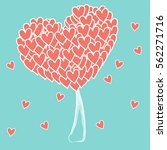 valentine tree with hearts for... | Shutterstock .eps vector #562271716