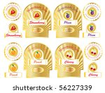 a set of gold jam labels for... | Shutterstock .eps vector #56227339