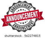 announcement. stamp. sticker.... | Shutterstock .eps vector #562274815