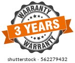 3 years warranty. stamp.... | Shutterstock .eps vector #562279432