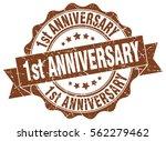 1st anniversary. stamp. sticker.... | Shutterstock .eps vector #562279462