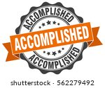 accomplished. stamp. sticker.... | Shutterstock .eps vector #562279492