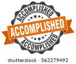 accomplished. stamp. sticker.... | Shutterstock .eps vector #562279492