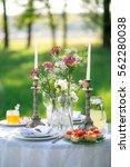 elegant beautiful decorated... | Shutterstock . vector #562280038