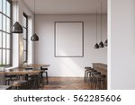 bar interior with a row of... | Shutterstock . vector #562285606