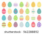 colored easter eggs or color... | Shutterstock .eps vector #562288852