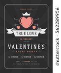 happy valentines day party... | Shutterstock .eps vector #562289956