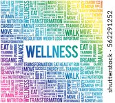 wellness word cloud  fitness ... | Shutterstock .eps vector #562291252