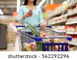 consumerism  technology and... | Shutterstock . vector #562292296