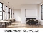 cafe interior with a large sofa ... | Shutterstock . vector #562299862