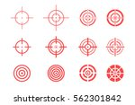 collection of target icons on... | Shutterstock .eps vector #562301842