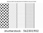 collection of seamless dots... | Shutterstock .eps vector #562301902