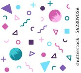 white avant garde geometric... | Shutterstock .eps vector #562309036