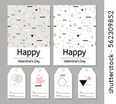 love. valentine's day. set of ... | Shutterstock .eps vector #562309852