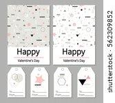 love. valentine's day. set of ... | Shutterstock .eps vector #562309852