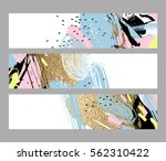 set of artistic creative three... | Shutterstock .eps vector #562310422
