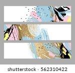 set of artistic creative three... | Shutterstock .eps vector #562310422