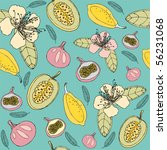 exotic fruits pattern | Shutterstock .eps vector #56231068
