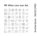 49 office icon set | Shutterstock .eps vector #562311982