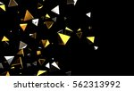 futuristic background. 3d... | Shutterstock . vector #562313992