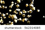 gold pyramid particles... | Shutterstock . vector #562314085