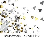 gold and white particles.... | Shutterstock . vector #562314412