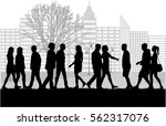group of people. crowd of... | Shutterstock .eps vector #562317076
