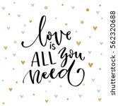 love is all you need.... | Shutterstock .eps vector #562320688