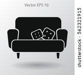 sofa with pillows vector... | Shutterstock .eps vector #562321915